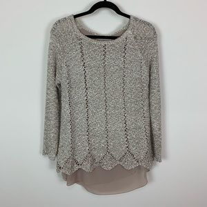 Simply couture small gold shimmer sweater blouse